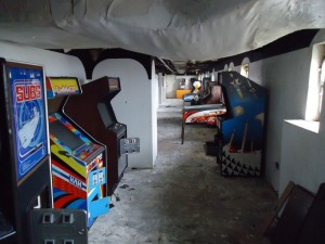 arcade machines on ship before rescue