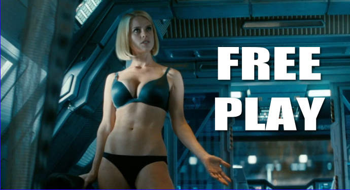 Pinsider bcfast's Star Trek card features a lady that appears to have forgotten to put her clothes on.