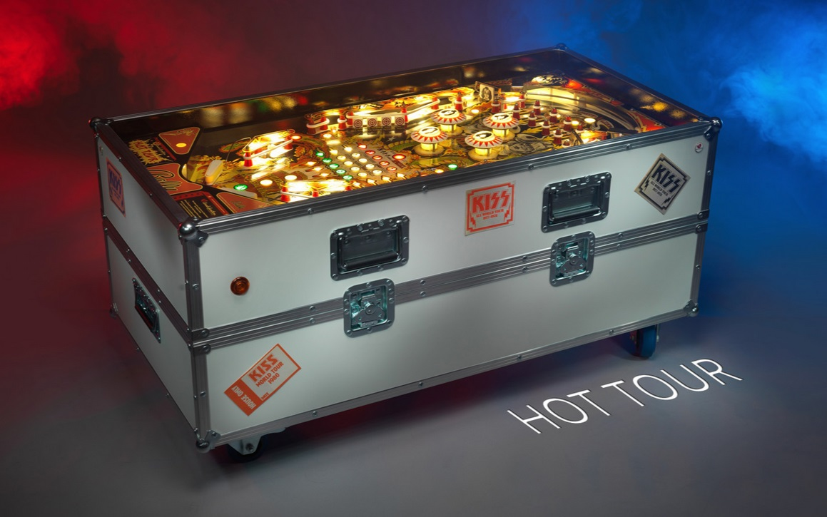 Turning playfields into coffee tables pavlov pinball hot tour based on a 1979 bally kiss is adorned with original kiss backstage geotapseo Image collections