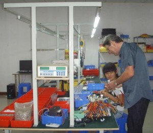 Sub-harnesses being assembled at Homepin's factory