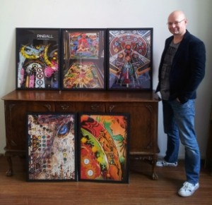 Joosten's pinball prints will be launched at the UK Pinball Party in Daventry at the end of September