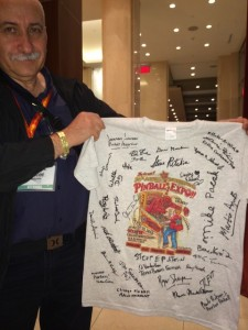 Norbert Snicer with a signed Expo 2014 t-shirt